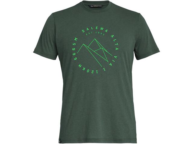 SALEWA Alta Via Dri-Release Koszulka z krótkim rękawem Mężczyźni, deep forest melange
